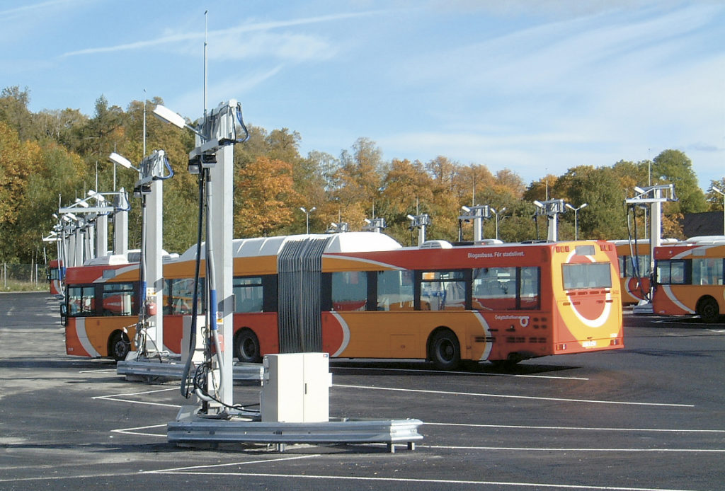 Tankplats biogasbussar